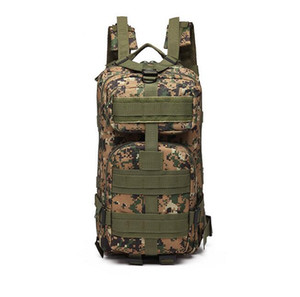2019 Multifunction Outdoor camouflage backpack Army fan tactical backpack 3P mountaineering bag Camouflage walking bag Travel package 1126#