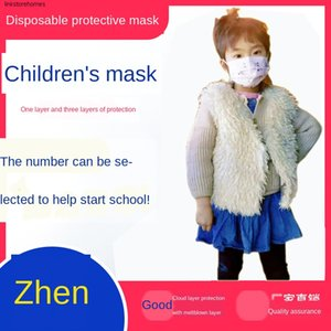 Children's Cartoon Disposable Mask Printing Adult Male Three-layer Protective Female Waterproof Child's Nose Mask Breathable