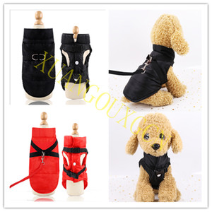 Winter Dog Clothes Pet Waterproof Thicken Warm Large Dog Vest Cat Puppy Dog Ski Coat Jackets Pet Ski Suit Surfing suit
