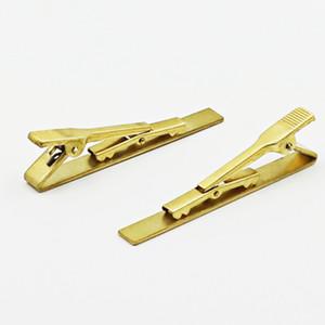 Clipes de gravata 5.8 * 0.6 cm cores do ouro Chapeamento de cobre Para homem De Negócios gravata do Pescoço Clips pai Gravata Clips presente de Natal