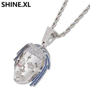 힙합 랩퍼 절묘한 Xxxtentacion R.I.P 기념 목걸이 펜던트 블링 Mens Jewelry