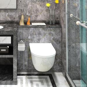 obere Wand bündig Toilettengarnitur Wand pan Wasserzeichen Zertifikat verdeckter Tank dual Spülknopf Unterputzspülkasten Toilette montiert hängen