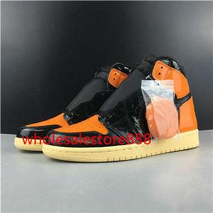 nike  jordan aj 1 di vendita 1 ad alta OG broken backboard 3,0 scarpe nere arancione di pallacanestro di sport delle signore del Mens 1s casuali scarpe scarpe Hococal