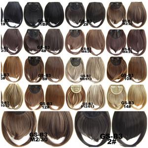 Nuovi 32 colori Short Front Neat bangs fibra chimica alta temperatura filo due lunghi frangia Europa e gli Stati Uniti Fashion Bangs