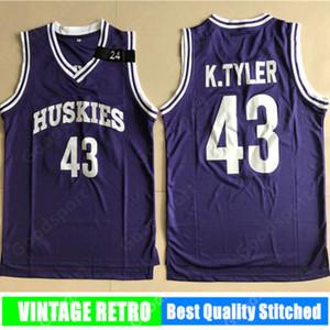 2019 camisas de deporte para hombre de Marlon Wayans Kenny Tyler 43 camiseta de baloncesto El sexto hombre azul K.Tyler cosido venta caliente