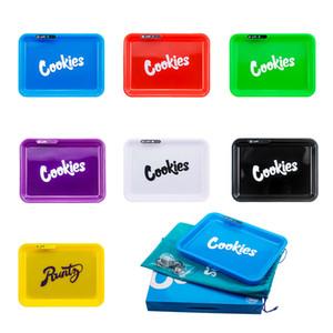 Crecimiento del balanceo bandeja de galletas LED Partido Para la bandeja Bandejas colores mezclados para papeles de balanceo fumar en pipa Grinder logo OEM de la ayuda