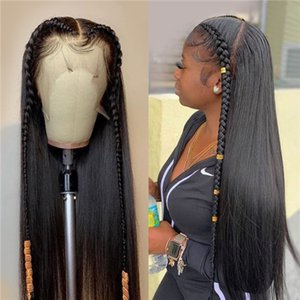 Pre Plucked 13x6 lace front Wig Brazilian Straight Human Hair Wigs For Black Women 5 Inch Swiss Lace Front Wig 130% 150% 180%