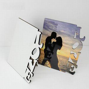 وصول جديد التسامي فارغة DIY خشبي إطارات الصور الحب MDF الإطار الصلب مجلس صور هدية طباعة لوحات زخرفية غير المؤطرة
