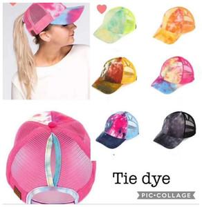 Хвостик Бейсболка Грязных Булочки шляпы Trucker Pony шапка унисекса Visor Cap Hat папу сетки летом на открытом воздухе Snapbacks с CC Этикеткой