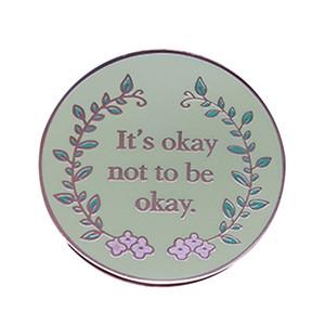 T в порядке не будет хорошо эмаль булавки броши психического здоровья положительного знака осведомленности цветок искусство женщина аксессуар