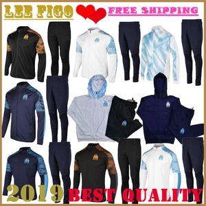 2020 Olympique de Marseille tracksuit soccer training suit Maillot De Foot 19 20 PAYET THAUVIN OM Football jacket jogging tracksu SIZE:S-XXL