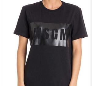 Envío libre -Alta calidad de los hombres / mujeres MSGM camiseta Pareja de verano la marca impresa letra Tops Casual Tee algodón de manga corta camiseta del O-Cuello 2020