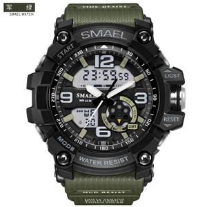 Smael SL1617 relogio montres de sport pour hommes, montre-bracelet chronographe LED, montre militaire, montre numérique, bon cadeau pour garçon hommes, dropship
