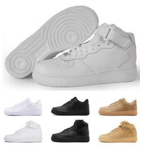 Hot CORK für Männer Frauen-Qualitäts-One 1 lässige Schuhe Low Cut Alle Weiß-Schwarz-Farben-beiläufige Turnschuh-Größe US 5.5-12