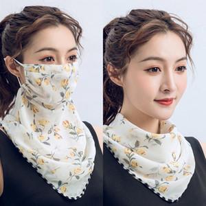 silk scarf durag scarves New neck mask sunscreen summer ladies mask outdoor riding breathable dustproof head wrap hair scarf bandanas
