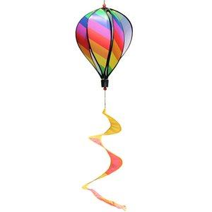 컬러 Windsock입니다 스트라이프 뜨거운 공기 풍선 바람 스피너 마당 정원 장식 장식 말뚝 야외 바람 스피너