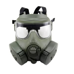 Tactical Kopf Masken Harz Full Face Nebel-Ventilator für CS Wargame Paintball Dummy Gasmaske mit Ventilator für Cosplay Schutz