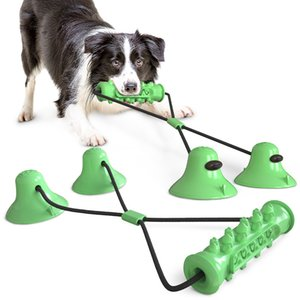 Double Suction Cup Drawstring Dog Toy Molar Teeth Bite-Resistant Ball Dog Toy clean tooth Pet supplies remove calculus