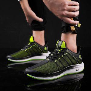 Bonjean Popüler Yaz Yeni Erkekler Ayakkabı Hava Yastık Büyük Beden Nefes Run Erkekler Sneakers Artış Mesh Dantel-up Erkekler Rasgele