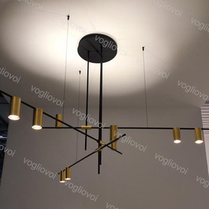 Pendentif Lampes Modern Loft Simple Plafonnier Ligneur suspendu Drop Drop Bar pour salon intérieur Chambre à coucher Cuisine DHL