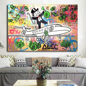 Alec Tekel PJ Fly HD Duvar Sanatı Tuval Poster Ve Baskı Tuval Boyama Dekoratif Resim Ofis Oturma Odası Için Ev dekor