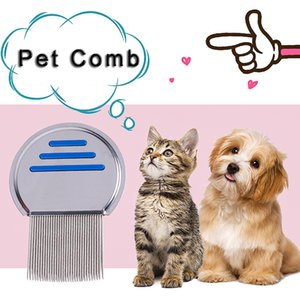 Stainless Steel Pet Lice Comb Cat Dogs Flea Nits Comb Puppy Cats Super Density Needle Comb Pets Grooming Tool Hair Combs Removers DBC BH3134