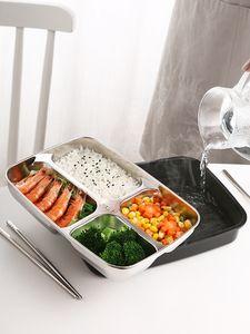 Almuerzo de Bento Caja de acero inoxidable de plástico 1200ml cajas de celosía cocina almuerzo envase de alimento para los niños climatizada almuerzo Caso GGA3226