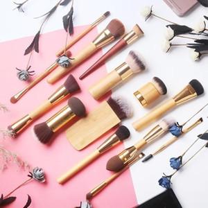 Бренд 100% ТТ косметика для макияжа кисти инструменты тени для век брови лайнер тени для век брови подводка для глаз бамбуковые кисти для макияжа.