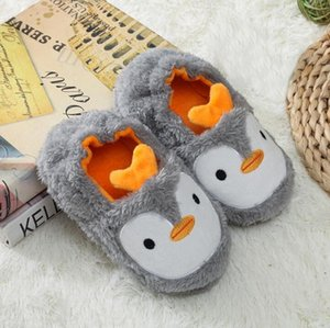 Factory direct sales of new children's cotton slippers autumn and winter bags with cartoon penguin plush cotton slippers