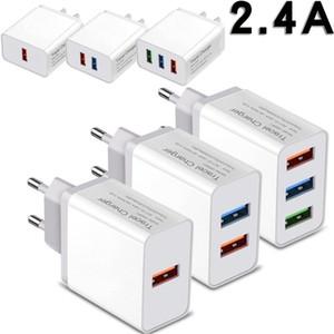 2.4A Eu를 미국 AC 홈 여행 벽 충전기 1 2 3 USB 포트 어댑터 아이폰 7 8 × 11 삼성 HTC 안드로이드 폰 PC의 MP3의 경우