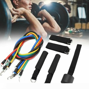 11pcs set Pull Rope Fitness Exercises Resistance Bands Latex Tubes Yoga Training Workout Elastic Resistance Band Party Favor CCA12183 10sets