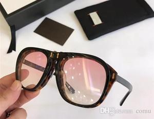 Di lusso occhiali da sole firmati 0087S HAVANA / GIALLO FLIP UP 0087 occhiali da sole di marca Sunglass Nuovo con fghdfgfs Box