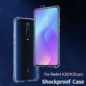 Redmi K20 ve K20 Pro için dört köşe darbeye dayanıklı şeffaf TPU cep telefonu kılıfı ile ücretsiz kargo