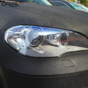 Car Styling Black Sandy Vinyl Sparkle Wrap Vinyl Sparkle Film Con Aire Libre Etiqueta de Etiqueta de Moto Tamaño 1.52x30m / Roll