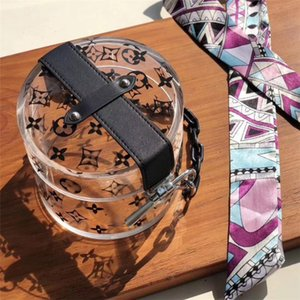 French women designer brand imports have enlihcam ssalgglass transparent limited edition scarf silk scarf handbag banquet makeup female bag