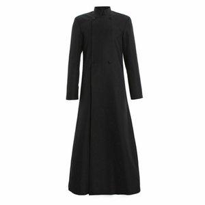 Wicca Pagan Ritual Robe Clero Cassock Roman Ortodoxa Robe traje terno cosplay