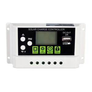 20A 12V24V LCD Display PWM Solar-Panel-Laderegler Li-Ionen-Blei-Säure-Batterie Kompatible USB-DC-Hintergrundbeleuchtung Anzeige