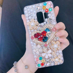 Fashion Desinger Phone Case for IphoneX XS XR XSMAX Iphone7 8Plus Iphone7 8 Iphone6 6sP 6 6s Luxury Case with Rhinestone Tpu Back Cover