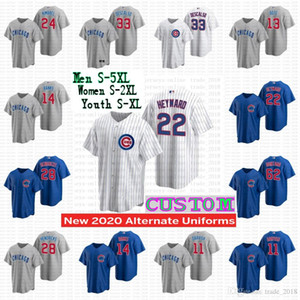 Chicago 2020 Cubs Jersey daniel descalso david bote ernie banks jason heyward jose quintana kyle hendricks albert almora jr Women youth