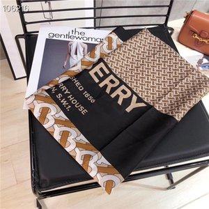 2020 العلامة التجارية الجديدة وشاح الحرير ذات جودة عالية العلامة التجارية وشاح الموضة إلكتروني B طرحة شال للنساء حجم 180x90cm