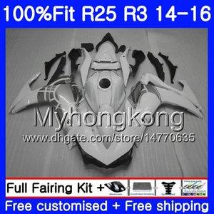 Инъекции для YAMAHA YZFR25 YZF R25 Gloss white hot R3 2014 2015 2016 2017 240HM.47 YZF - R25 YZF-R3 R 25 корпус YZFR3 14 15 16 17 обтекатели комплект