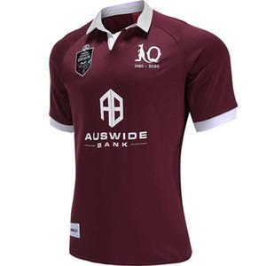 2020 QUEENSLAND ETAT D 'ORIGINE Maroons JERSEY QLD Maroons 2020 JERSEY Queensland QLD Maroons Malou taille maillot de rugby S-L - 5XL (peut imprimer)