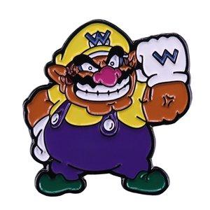 Bros Wario 라펠 핀 슈퍼 마리오 게임 팬 장식