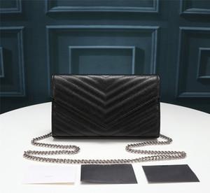 Mode Luxus-Designer-Frauen Handtasche hohe Qualität echtes Leder Crossbody Quaste Klappenbeutelrind schwarze Handtasche Taschentasche 22.5cm