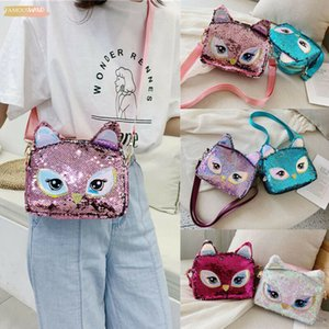 2020 Fashion Women Cat Sequin Bag Handbag Leather Shoulder Tote Satchel Messenger Printing Mini Cross Body