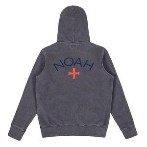 19SS NOAH Printed Pure Color Zip Jacket Мужчины Женщины Повседневная Street Hip Hop Simple Zipper Coat Мода Outwear Зеленый Черный-серый HFHLJK014