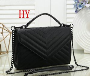 Yeni Moda klasikleri tasarımcı siyah zincir omuz Çanta loulou kadınlar koyun deri yüksek kaliteli çanta çanta moda sırt çantaları