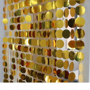 Supplies Festival partito PVC Paillettes Curtain interni tende decorative fai da te Wedding Sinistra e Destra Biparting Aprire