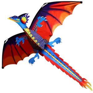 Classical Dragon Kite With Tail And Handle Single Line Good Flying High Altitude Animal Kites 140cm X 120cm