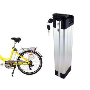 Ücretsiz AU AB ABD Elektrikli katlanır Gümüş balık Bisiklet Pil 36 v 16ah piller 350 W için 500 W motor + 2A Şarj